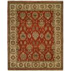 Fatehabad Hand-Knotted Rust/Ivory Area Rug Rug Size: Runner 2'6