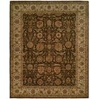Diphu Hand-Knotted Brown/Ivory Area Rug Rug Size: Rectangle 5' x 7'