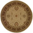 Dhenkanal Hand-Knotted Camel / Brown Area Rug Rug Size: Round 10'
