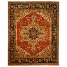 Hand-Knotted Red Area Rug Rug Size: Rectangle 8' x 10'
