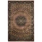 Vandavasi Hand-Knotted Burgundy Area Rug Rug Size: Rectangle 8' x 10'