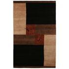 Itajai Hand-Knotted Black/Tan Area Rug Rug Size: Runner 2'6