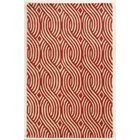 Genoa Hand-Tufted Ivory/Red Area Rug Rug Size: Rectangle 9' x 12'