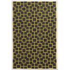 Larnaca Hand-Tufted Coal/Gold Area Rug Rug Size: Runner 2'6
