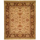 Hand-Knotted Brown Area Rug Rug Size: Rectangle 4' x 6'