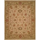 Hand-Knotted Beige/Green Area Rug Rug Size: Round 10'