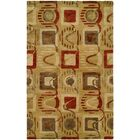 Beige/Red Hand-Tufted Area Rug Rug Size: 3'6