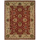 Hand-Knotted Red/Beige Area Rug Rug Size: Square 6'