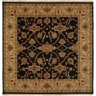 Apte Hand-Woven Black/Beige Area Rug Rug Size: Square 8'
