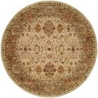 Boase Hand-Woven Beige/Brown  Area Rug Rug Size: Round 8'