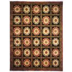 Borde Hand-Knotted Black/Brown Area Rug Rug Size: 9' x 12'