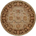 Chacko Hand-Woven Brown Area Rug Rug Size: Round 8'