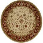 Chaudhari Hand-Woven Beige Area Rug Rug Size: Round 6'