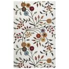 Koper Hand-Tufted White/Orange Area Rug Rug Size: Runner 2'6
