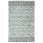 Chetumal Hand-Tufted Ivory/Gray Area Rug Rug Size: Rectangle 3' x 5'