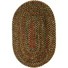 Renukoot Brown Indoor/Outdoor Area Rug Rug Size: Oval 7' x 9'