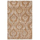 Cabello Hand-Knotted Brown Area Rug Rug Size: Rectangle 5'6