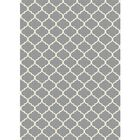 Moroccan Light Gray Indoor/Outdoor Area Rug Rug Size: 5' x 7'