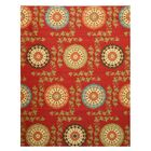 Miranda Red Area Rug Rug Size: 7'10
