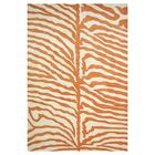 Tylersburg Hand-Woven Orange Area Rug Rug Size: Rectangle 8' x 10'