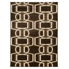 Danby Chocolate/Beige Area Rug Rug Size: Rectangle 5' x 7'