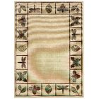 Newfield Ivory/Brown Indoor/Outdoor Area Rug Rug Size: Rectangle 6'7