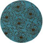 Newfield Blue/Brown Indoor/Outdoor Area Rug Rug Size: Round 7'10