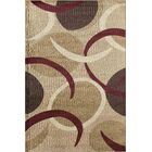 Allston Brown/Beige Area Rug Rug Size: Rectangle 5'3