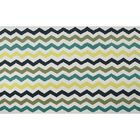 Humphries Hand-Hooked Blue/Green Area Rug Rug Size: Rectangle 7' x 10'