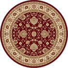 Lapp Red Area Rug Rug Size: 5'3'' Round