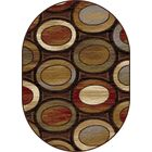 William Brown/Ivory Area Rug Rug Size: 5'3'' x 7'3'' Oval