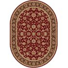 Laplant Red Area Rug Rug Size: 5'3'' x 7'3'' Oval