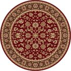Laplant Red Area Rug Rug Size: 5'3'' Round
