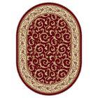 Langlee Red Floral Area Rug Rug Size: 9'3'' x 12'6''