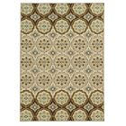 Roger Ivory/Tan Area Rug Rug Size: Rectangle 5'3