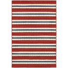Kailani Red/White Indoor/Outdoor Area Rug Rug Size: Rectangle 7'10