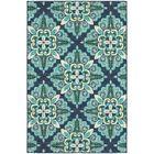 Kailani Contemporary Blue/Green Indoor/Outdoor Area Rug Rug Size: Rectangle 7'10