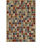Jewel Checkerboard Brown Area Rug Rug Size: 6'7