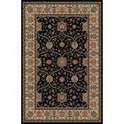 Jewel Voysey Black Floral Area Rug Rug Size: Rectangle 9'3