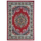 Eldred Dark Red Area Rug Rug Size: 7'10