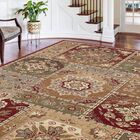 Barbarra Beige/Red Area Rug Rug Size: 6'7'' x 9'6''