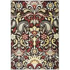 Culver Floral Brown Area Rug Rug Size: Rectangle 6'7