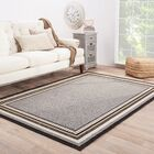 Somers Hand-Hooked Gray/Taupe Indoor/Outdoor Area Rug Rug Size: Rectangle 9' x 12'