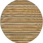 Milltown Grey/Gold Indoor/Outdoor Area Rug Rug Size: Round 7'10