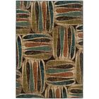 Bienville Brown/Green Area Rug Rug Size: Rectangle 3'10