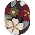 Strope Brown Area Rug Rug Size: 5'3'' x 7'3'' Oval