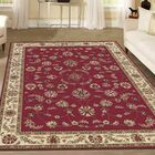 Weisgerber Red Area Rug Rug Size: Rectangle 5'5