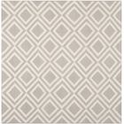 Brianna Grey/Ivory Area Rug Rug Size: Square 6'