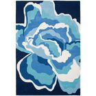 Burtundy Hand-Tufted Mediterranean / Blue Area Rug Rug Size: Rectangle 4' x 6'