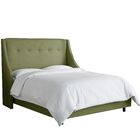Andy Upholstered Panel Bed Size: Full, Headboard Color: Olive